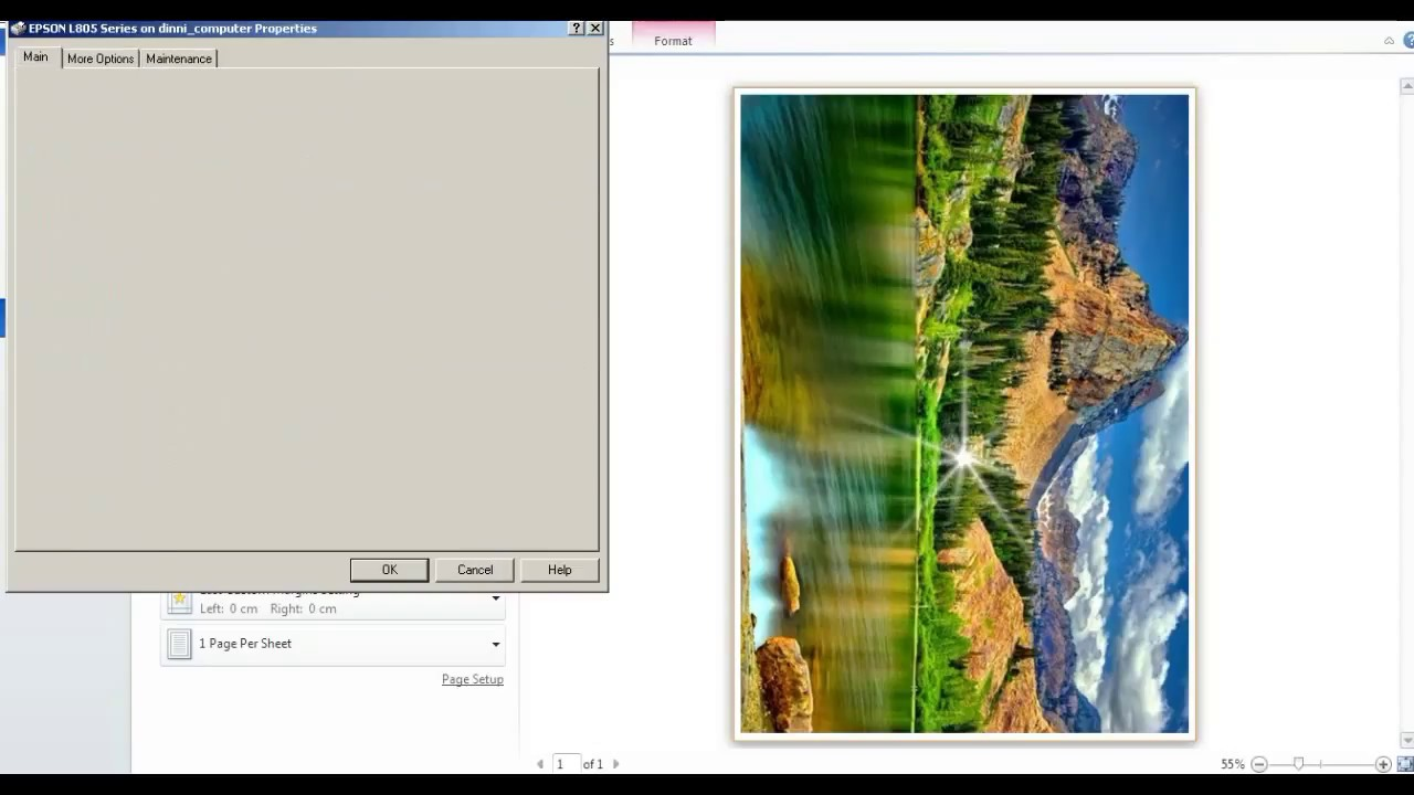 Cara Print Microsoft Word Full Page Youtube