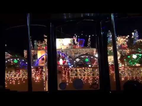 KEY WEST Christmas Lights Trolley ride (December 2014) part 1