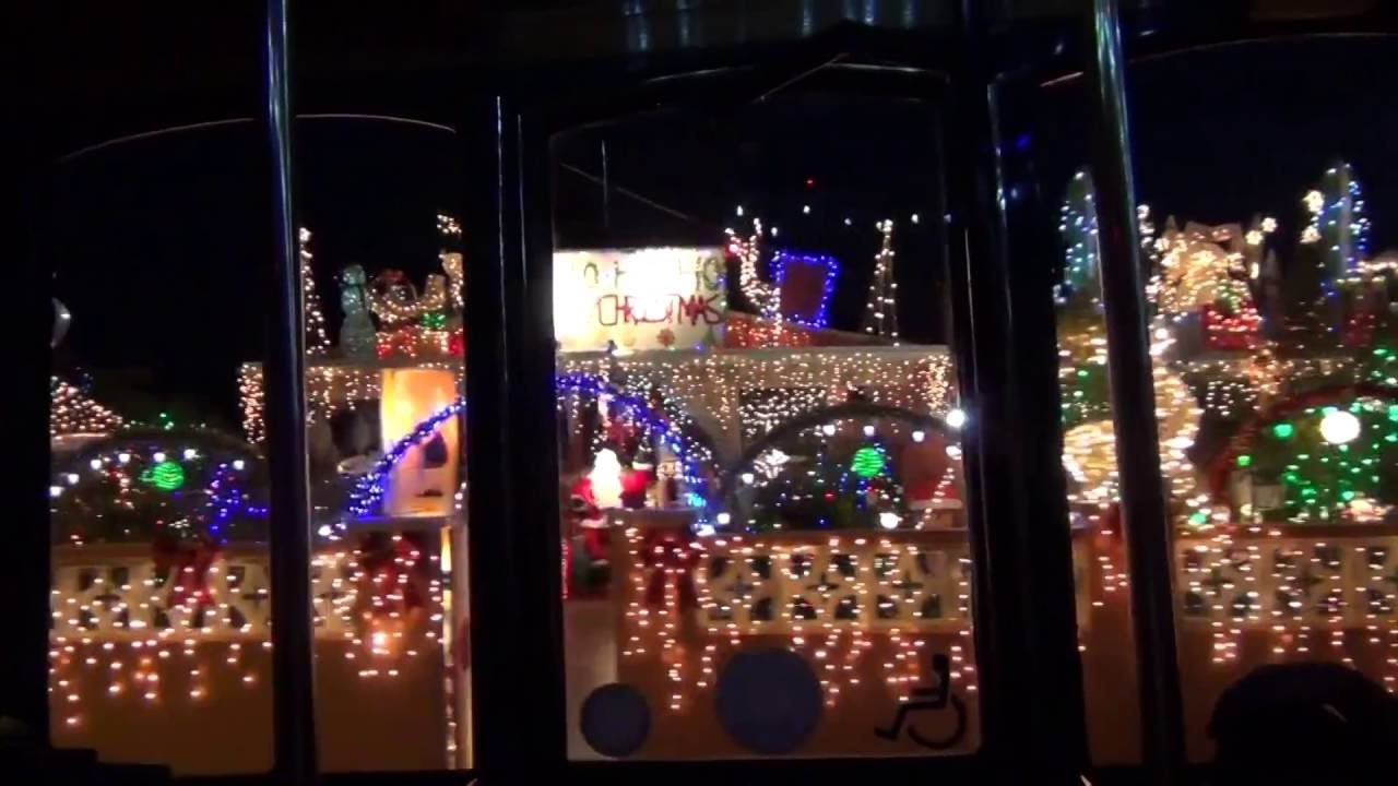 KEY WEST Christmas Lights Trolley ride (December 2014) part 1 - YouTube