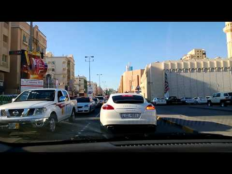 Manama Bahrain driving the streets