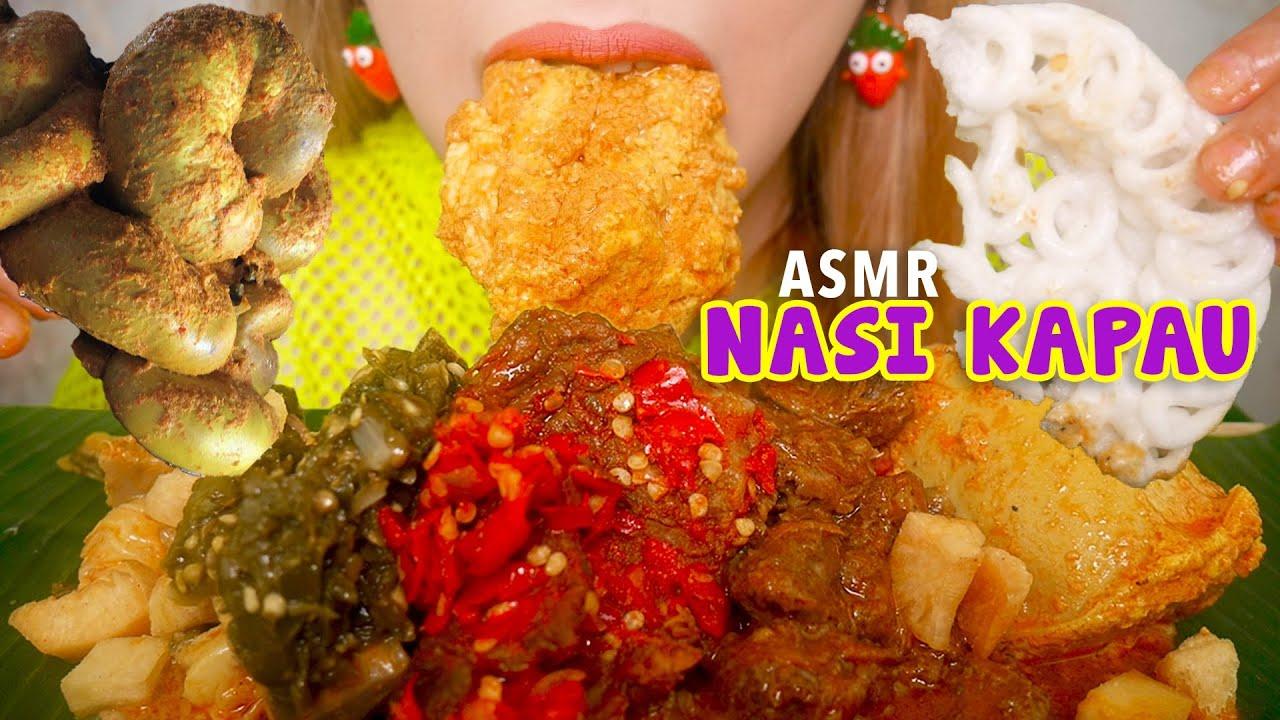 ASMR NASI KAPAU GULAI USUS SAPI TAMBUSU | ASMR Indonesia
