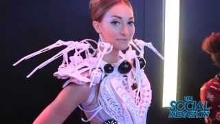 CES 2015 - The Spider Dress By Intel  - The Social Media Show