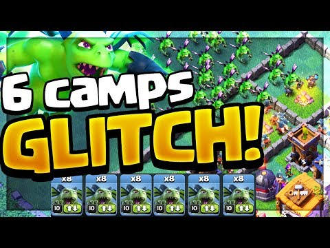 6 CAMPS GLITCH! 48 Minions in ONE Attack - Clash of Clans Builder Hall 5!
