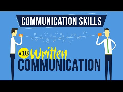 Written Communication - Introduction To Communication Skills - Communication Skills