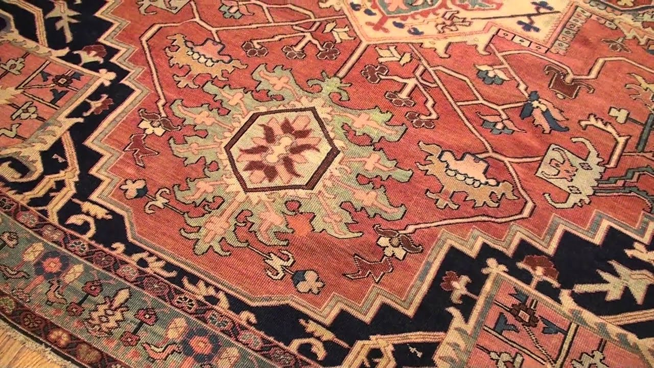 Antique Heriz Serapi Persian Rug 44199 9 Ft X 11 08 In 2 74 M 3 56 You
