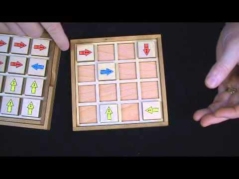 Arrow Tour - Analytical Puzzle from Martin Gardner book