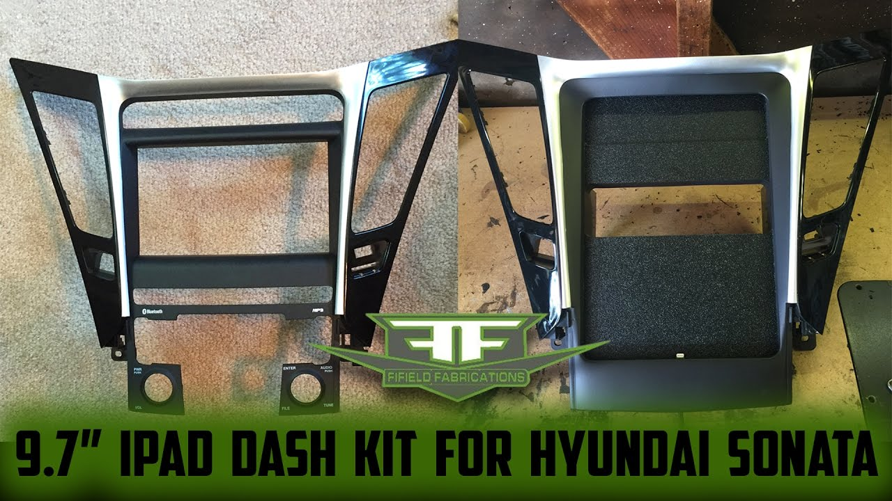 Creating A Dash Kit For 9 7 Ipad In Hyundai Sonata By Fifield Fabrications