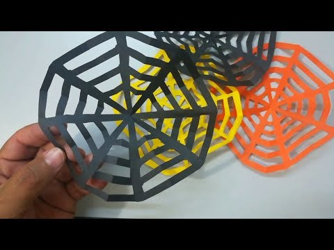 How to make a paper spider web easy  | DIY Spider web of paper | Origami