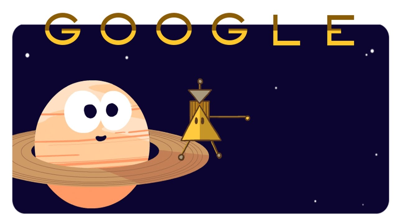 Cassini Spacecraft Dives Between Saturn and its Rings Google Doodle