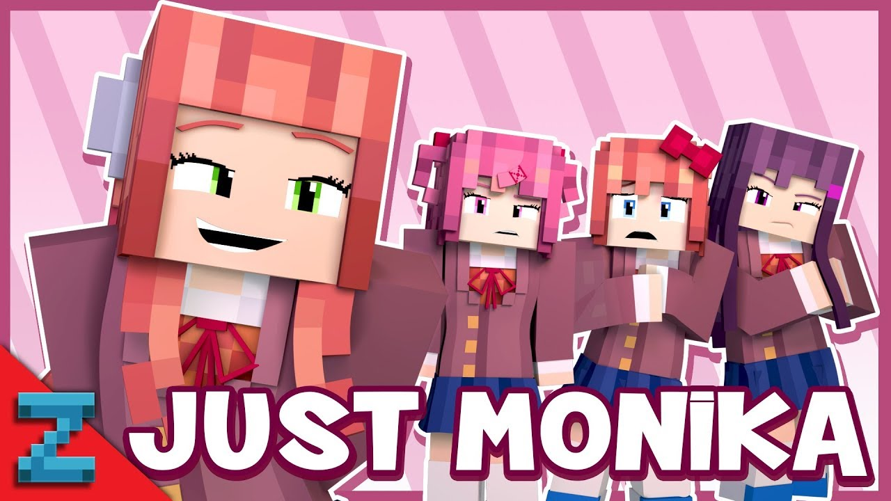 """Just Monika"" Minecraft Doki Doki Animated Music Video (Song By Random Encounters)"