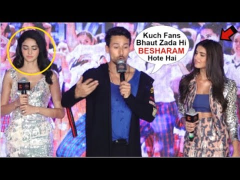 Tiger Shroff ANGRY Reaction On FANS Insulting Tara Sutaria & Ananya Panday Seeing SOTY 2 Trailer