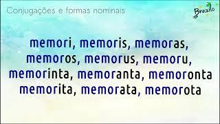 MEMORI verbo em Esperanto