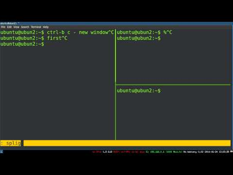 Basic Tmux Tutorial - Windows, Panes, And Sessions Over SSH