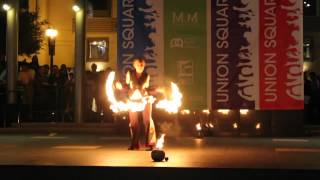 Fire Fan Solo: Manzanita Phire, Act 21: 2012 Fire Dancing Expo, San Francisco