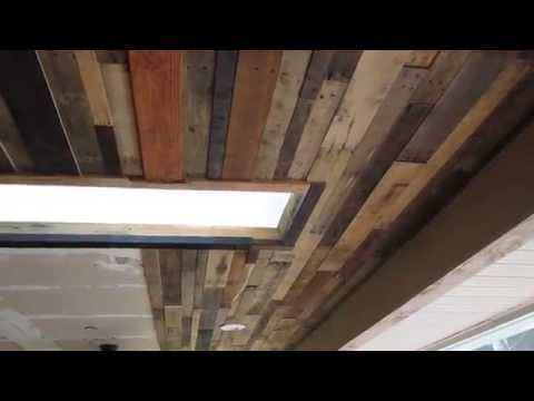 Reclaimed wood Ceiling or Accent Wall, DIY