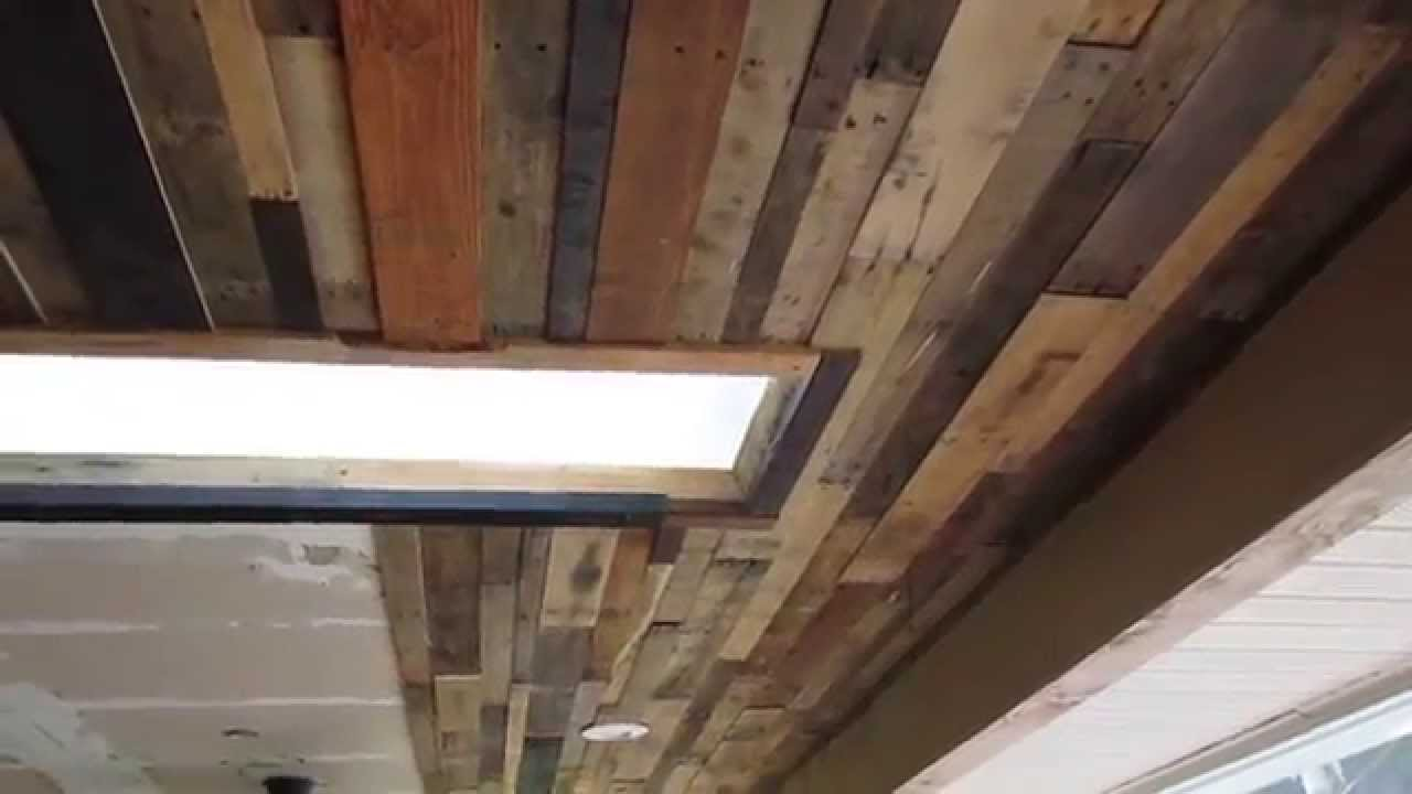 reclaimed wood ceiling or accent wall diy youtube - Reclaimed Wood Ceiling