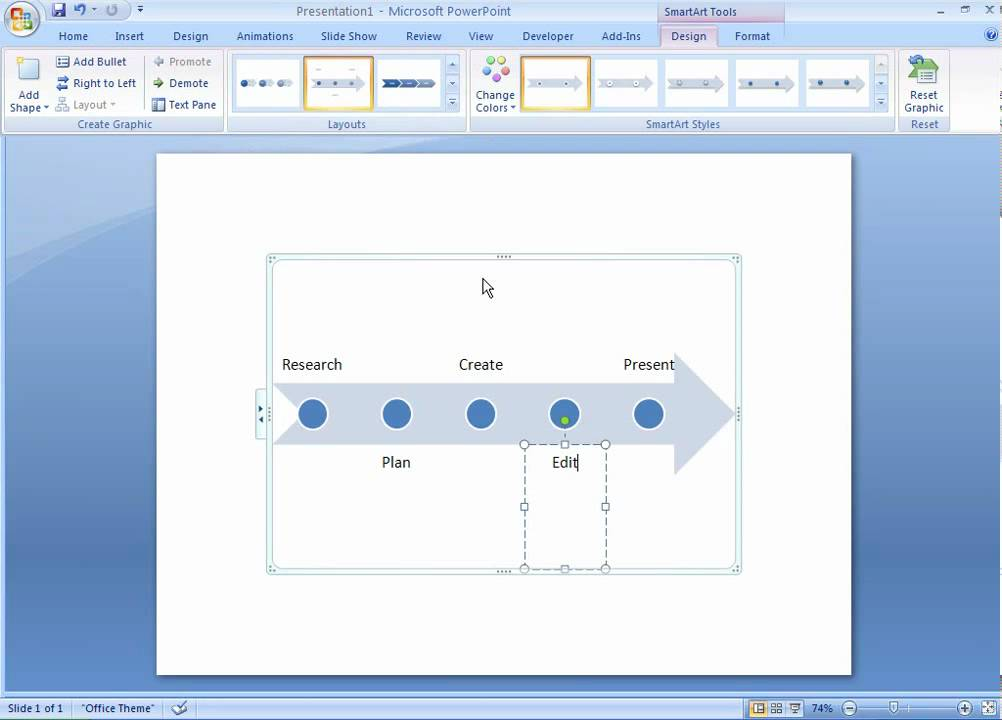 Office 2007 Demo: Create a timeline - YouTube