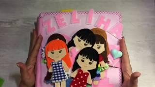 Zeliha' nın bebek evi - dollhouse - aktivite kitabı- quiet book