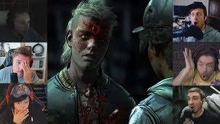 'Реакции Летсплейщиков' на Смерть Марлона из The Walking Dead: The Final Season