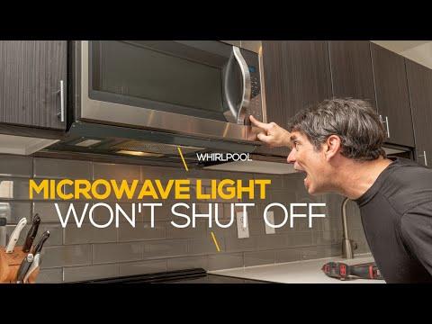 microwave range hood light won t turn off