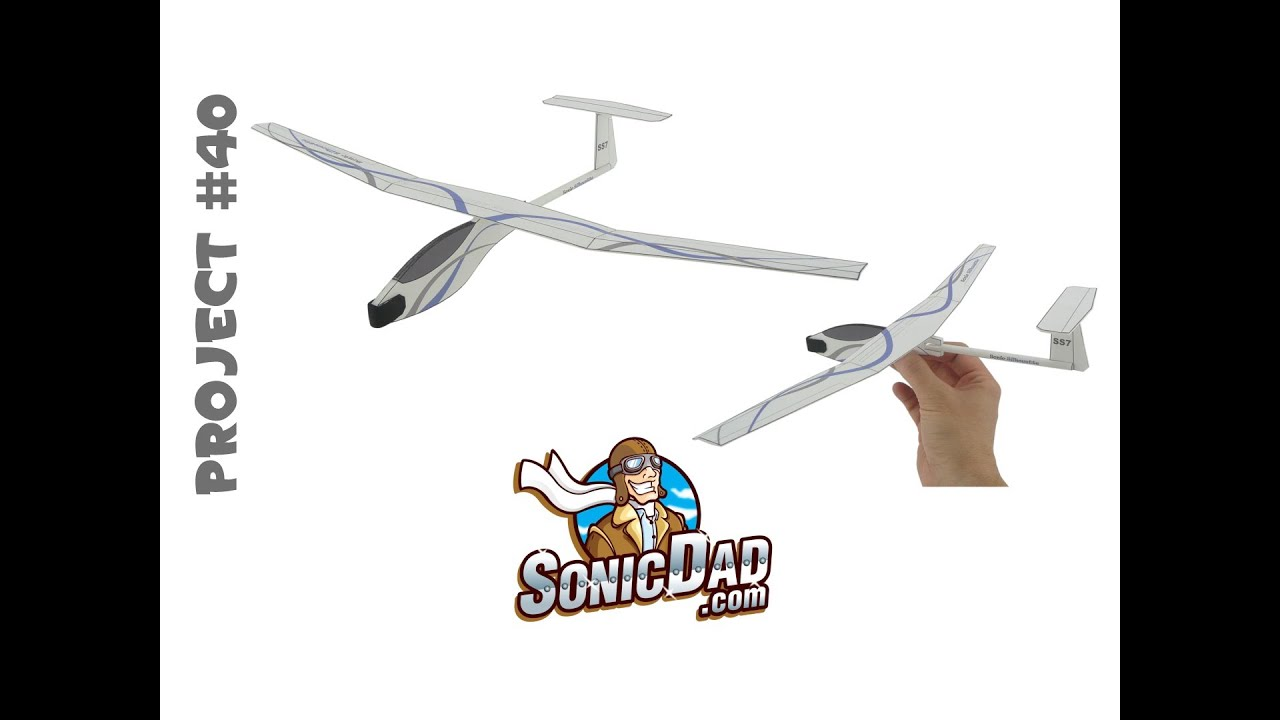 How to Make a Glider Airplane from Foam Picnic Plates! SonicDad Project #40