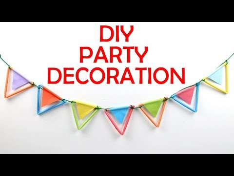 How to Make Easy Paper Decoration Wall Hanging Home Decor | DIY Easy Birthday Party Decoration Idea