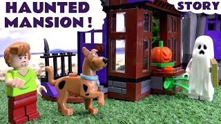 Scooby Doo LEGO Stop Motion Toy Story Prank with Minions Thomas & Friends Mystery Haunted Mansion(Toy Unboxing of the Scooby-Doo LEGO Mystery Mansion set told in creative play story form with Minions and Tom Moss The Prank Engine. Visit the ..., 2016-04-16T18:44:39.000Z)