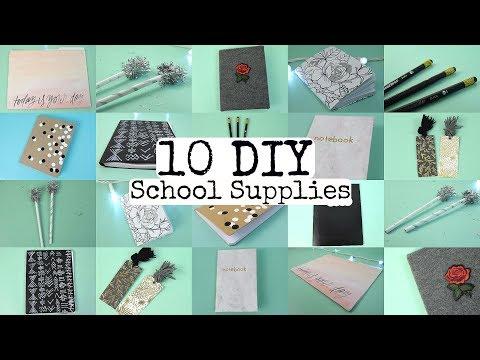10 DIY School Supplies! Easy and Cute
