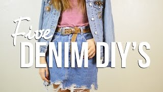 5 Denim DIYs | The Fashion Citizen