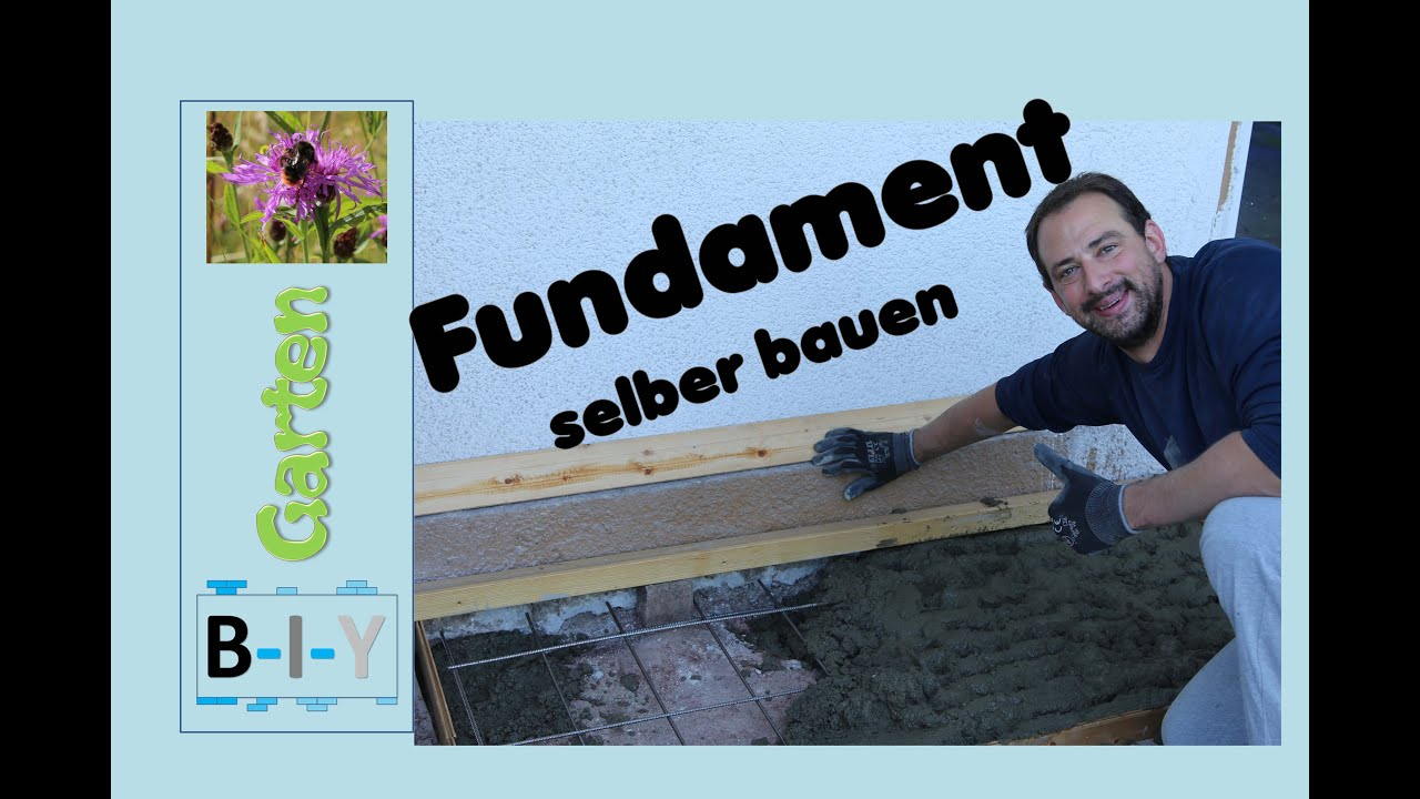 fundament selber bauen schritt f r schritt anleitung youtube. Black Bedroom Furniture Sets. Home Design Ideas