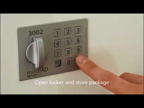 Smart TAN Code Lockers Package Delivery Storage