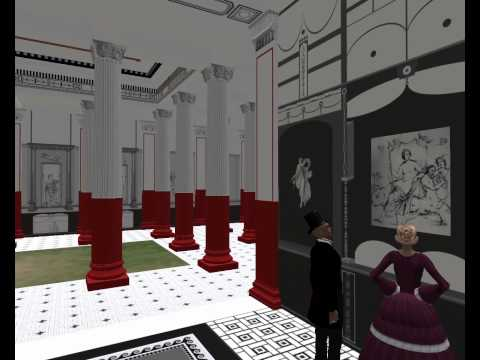 Virtual tour of the Pompeii Court - part of the 1854 Sydenham Crystal Palace