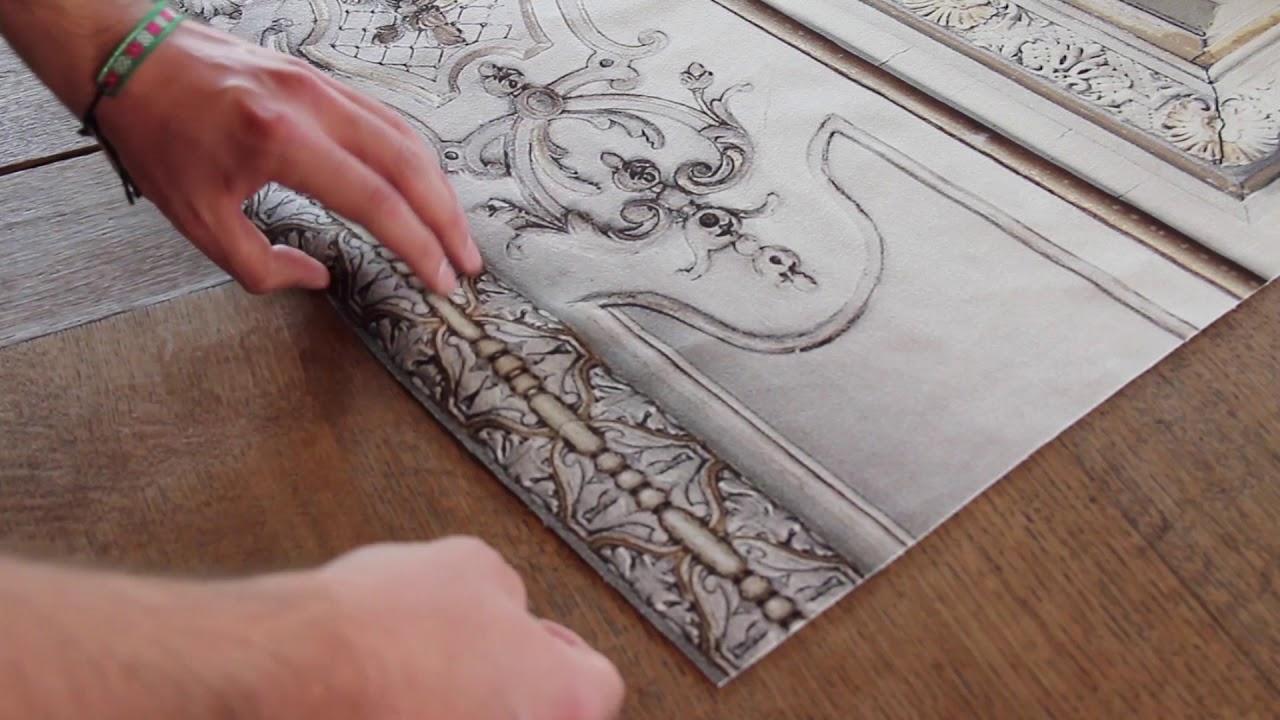 Papier Peint Trompe L Oeil Koziel velvet wallcoverings haussmannian stylekoziel