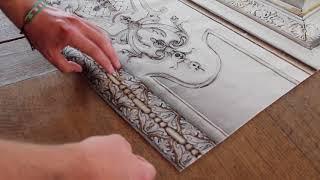 Revêtement mural velours style Haussmannien par Koziel