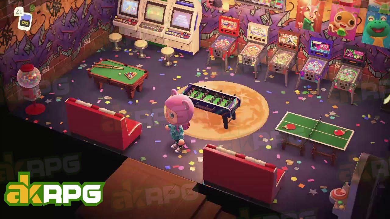 Acnh Retro Graffiti Game Room Best Animal Crossing Interior Design Ideas Youtube
