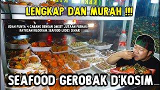 GIL4 !! SEAFOOD GEROBAK PINGGIR JALAN MURAH TERLENGKAP !! Sehari RIBUAN kerang LUDES