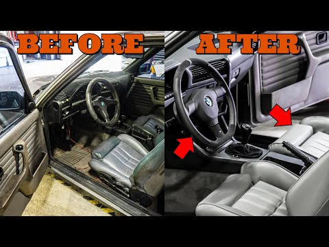 Here's How I Made The Interior of My 31 Year Old BMW E30 Look Modern Again On A Budget (PART 1)