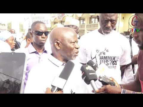 LAWYER OUSAINOU  DARBOE AT THE JAMMEH TO JUSTICE PROTEST