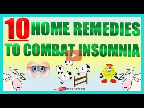 10 Home Remedies to Combat  Insomnia