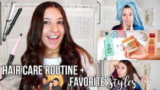 MY HAIRCARE ROUTINE + GO TO HAIRSTYLES   Affordable Haircare Products   Jackie Ann