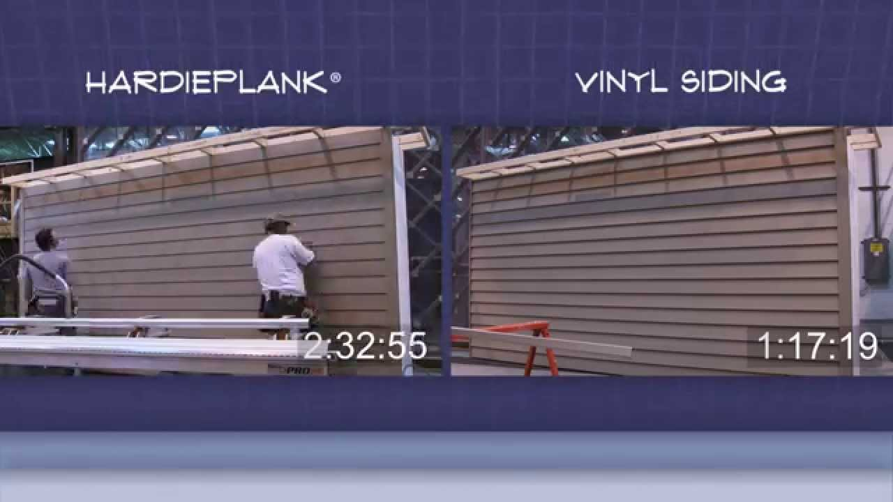 Hardieplank vs vinyl siding risk vs reward youtube for Wood siding vs hardiplank