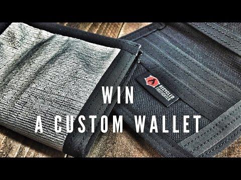 Custom Captain Bifold Wallet Giveaway Video