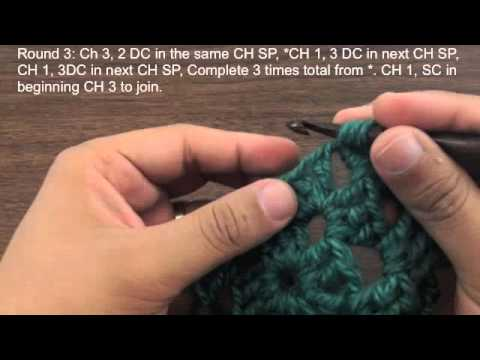 How to Crochet the Traditional Basic Granny Square