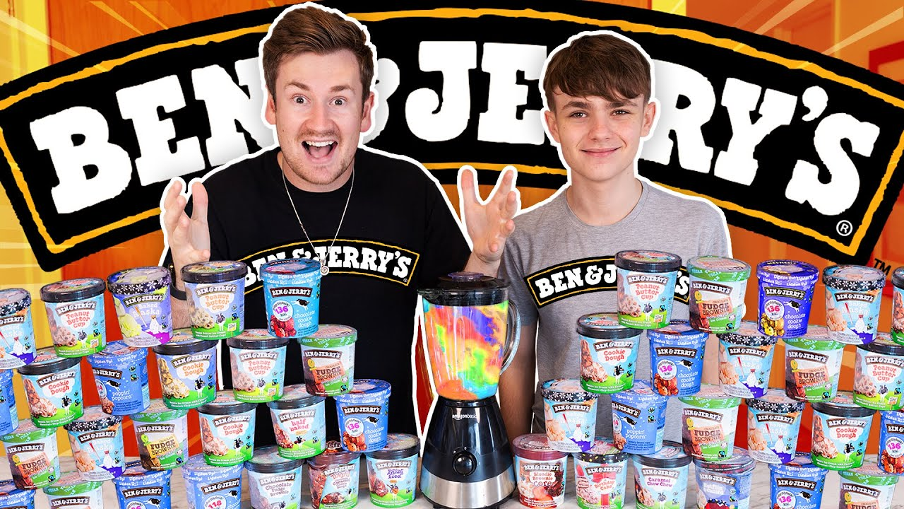 BROTHERS BLEND EVERY FLAVOUR OF BEN & JERRYS ICE CREAM