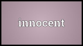 Innocent Meaning
