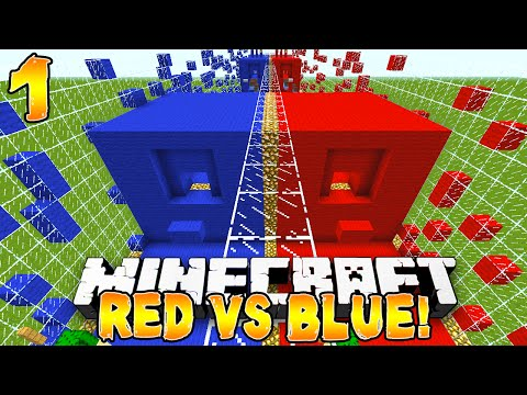 Minecraft - Red vs Blue Parkour! (TBNRfrags vs TBNRKenworth) - 1/2