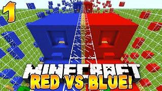 Minecraft - Red vs Blue Parkour! (TBNRfrags vs TBNRKenworth) - 1/2