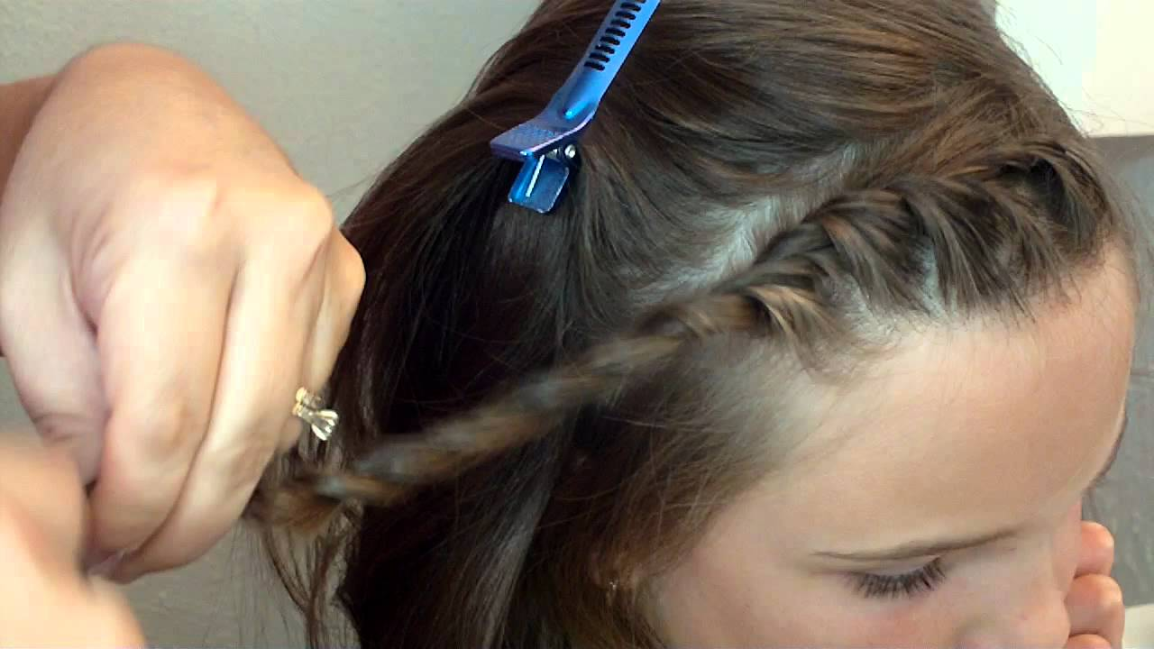 quick front twist hairstyle - youtube