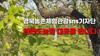 경북농촌체험관광sns기자단 한반도농원대표를 만나다.