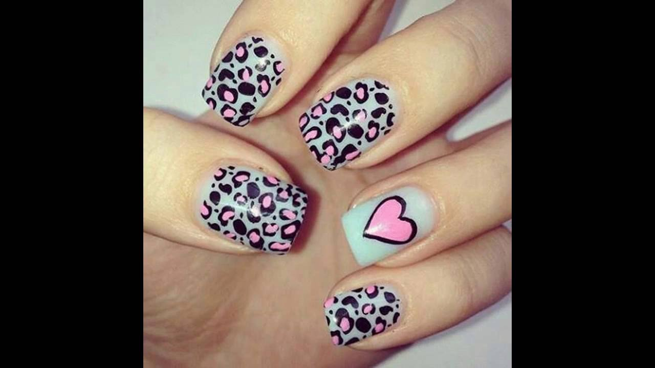 Uñas Decoradas Con Animal Print Youtube